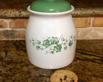 Cookie Jar in Corelle Coordinates Callaway Ivy Pattern by Jay Import Company