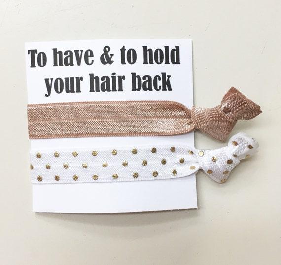 Bridesmaid hair tie favors//hair tie card, hair tie favor, bridesmaid hair ties, bachelorette gift, party favor, wedding, bride
