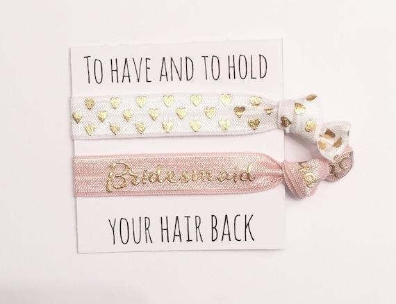 Bridesmaid hair tie favor//hair tie card//party favor//bridesmaid gift//bachelorette gift