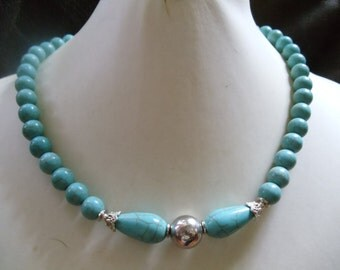 Turquoise flower power statement jewelry Neclaces