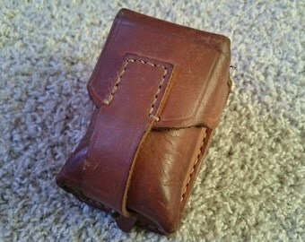 Leather ammo pouch, SKS rifle ammo pouch, Yugoslavian ammo pouch