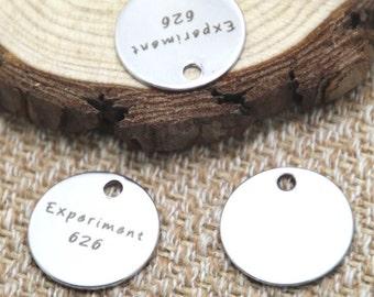 10pcs expriment 626 charm silver tone message charm pendant 20mm D2048