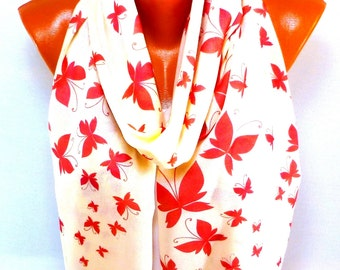 Scarf, Shawl, Pashmina Scarf, Butterfly pattern, Pashmina Shawl with Butterfly painted, Women Fashion Accessories, Gift for Mother's Day
