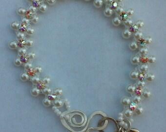 "6-B-200-1-7: pearl  bracelet 7"""