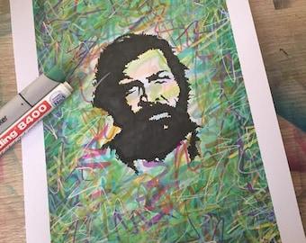 Bud Spencer Graffiti Stencil Pop Art Style Print