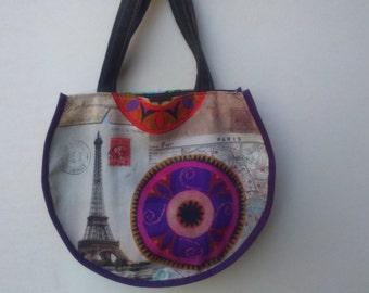 20% off for this bag handbag round Paris and mandalas