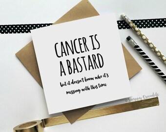 Cancer Card, Sympathy Card, Get Well Card