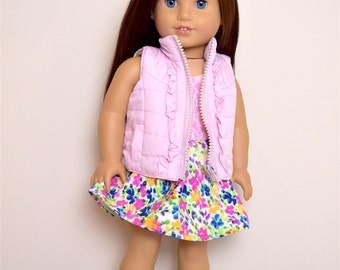 Light Pink Vest 18 inch doll clothes