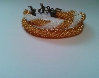 Beaded bracelet, double bracelet, Jewelry, Beaded jewelry,