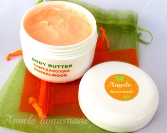 Sandalwood Body Butter, Natural Whipped Body Butter, Organic Body Moisturizer, Shea Body Butter, Body Cream, Natural Skin Care, Body Lotion.