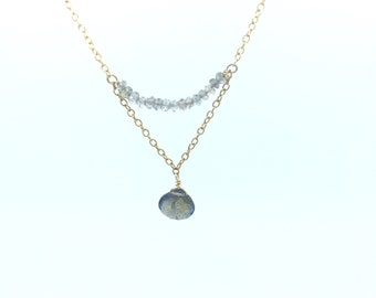 Labradorite Chain and Arch Necklace