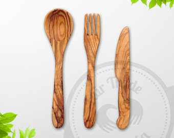 FREE SHIPPING - Olive Wood Utensil Set, 3-piece