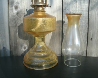 Vintage Gold Hurrican Lamp