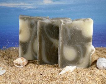 French Green Clay Soap / Acne Soap, Mini Soap, Tea Tree Soap, Essential Oil Soap, Guest Soap, Face Soap, Shower Favor, Oily Skin Soap