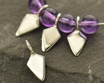 Sterling Silver, Tiny Spike, Spike Dangle, Spike Charm, Silver Spike, Silver Tiny Spike, Spike Jewelry, Geometric Jewelry, Geometric Charm
