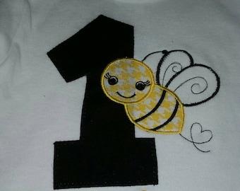 bumblebee birthday onesie