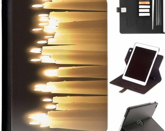 Lots of thin candles for rememberance Luxury Apple ipad 360 swivel i pad leather case cover with card slots