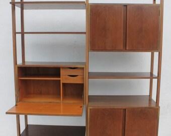 Vintage Desk Shelves  Cabinet Bookcase.