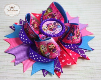Little Charmers hair bow - Stacked hair bow - Boutique hair bow - LIttle Charmers clip - Little Charmers bow