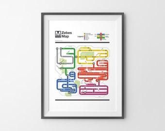 Metroid Metro - NES Map Series