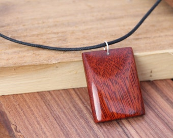 Handcrafted Pendant in Bloodwood