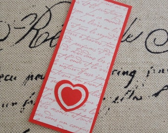 Red French Script Bookmark