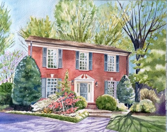 Commissioned House Portrait for Real Estate Agents