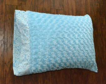 Baby Blue Minky Pillowcase.