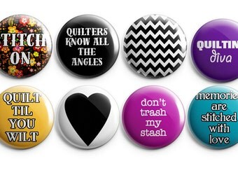 8 quilting buttons or magnets, stocking stuffers, gifts for quilters, quilting, gifts for her, quilting notions, sewing buttons