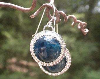 ON Sale Midnight Blue Kyanite Earrings in Silver