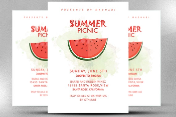summer picnic invitation summer invitation card invitation