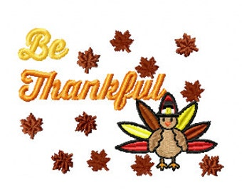 Be Thankful, Thanksgiving Embroidery Design, Fall Design, Fall Embroidery Design, Fall Shirt Design, Fall Outfit Design