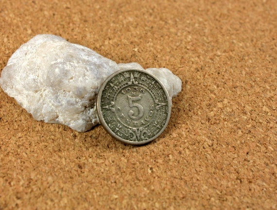 1936 5 Centavos Mexico Currency Vintage Mexican Coins