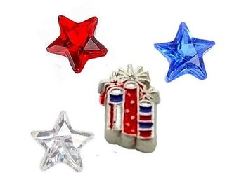 Fireworks Floating Charm