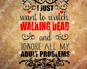 Walking Dead SVG PNG DXF Eps Fcm Ai Cut file for Silhouette, Cricut, Scan n Cut Zombie svg, Walking Dead T-shirt design