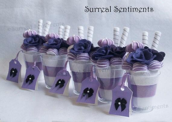 Set Of 5 Unique Wedding Favors Bridesmaids Gift Purple