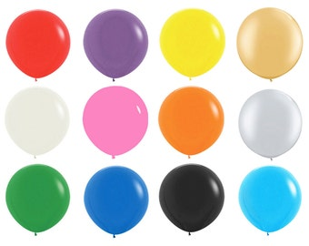 """5pack 36"""" Giant Latex Balloons - 36 inch Latex Balloons - Giant Balloons - Jumbo Balloons - Rainbow Balloons - FREE SHIP"""
