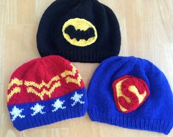 Superhero Inspired Hats/ Beanies