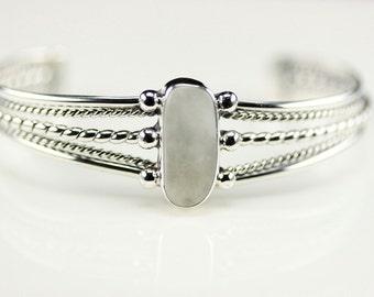 Native American Indian Jewelry Handmade Sterling Silver Howlite Cuff Bracelet