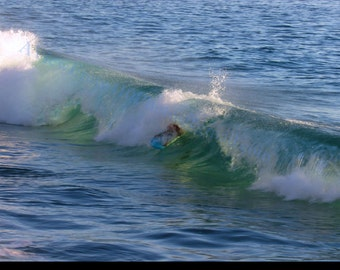 Body Surfer on a Wave Photograph JV