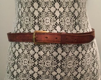 Vintage Brown Leather Belt / size 34 / by Hickok