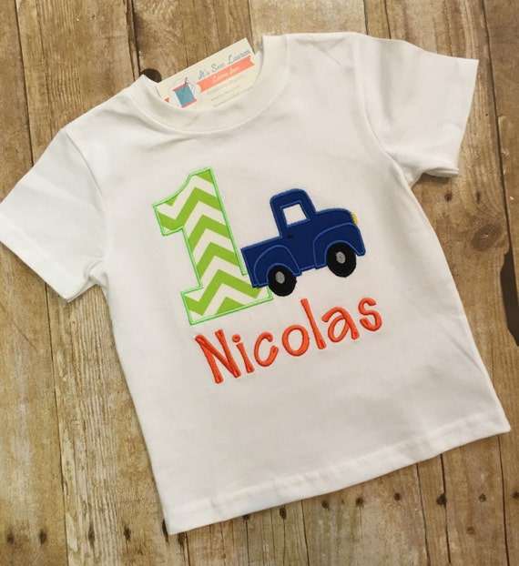 Little blue truck birthday shirt birthday shirt little blue for Little blue truck fabric