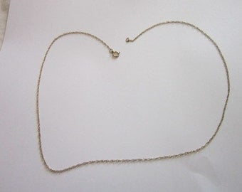 """Vintage 14k Gold Filled 18"""" long Rope Twist Chain Necklace"""