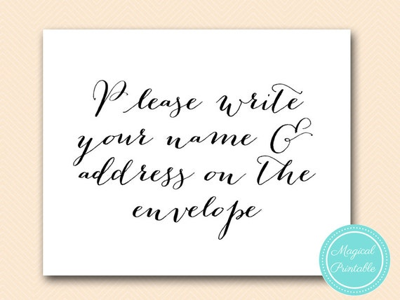 Please Write Your Name And Address On The By MagicalPrintable