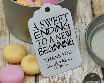 Wedding Favor Tag - Engagement Party Favor Tag - Bridal Shower Favor Tag - Party Favor Tag - Gift Tag - Candy Bar Tag - Personalized Tag