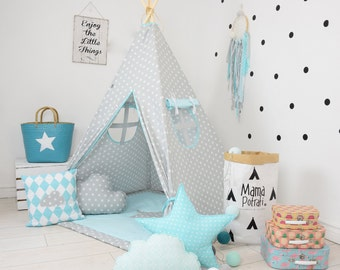 Childrens teepee playtent tipi zelt wigwam kids teepee tent : childrens play tents uk - memphite.com