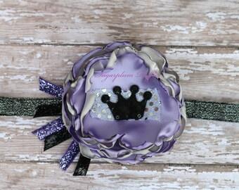silver, black, lilac, purple, headband, crown
