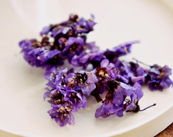 Dried purple flower, dried flower in a box , Preserved flower, Dried flower for jewelry, a box of  preserved flower