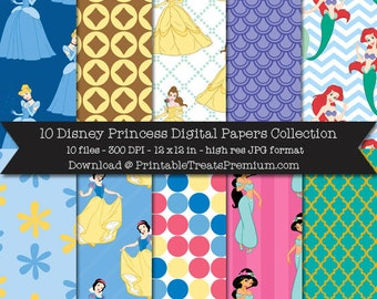 Disney Princess Digital Paper Pack