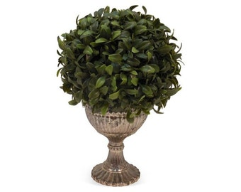 Boxwood Ball in Goblet, Faux